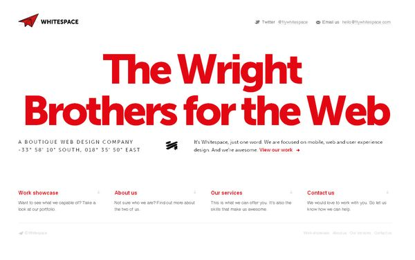 Cool Websites With Big Typography