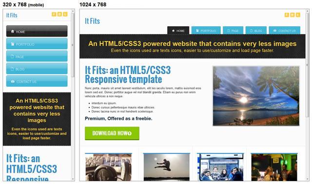 Free Responsive HTML & CSS Templates