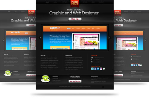 Creative Free PSD Website Templates